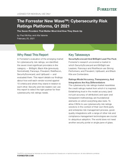 The Forrester New Wave™: Cybersecurity Risk Ratings Platforms, Q1 2021