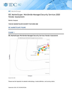 IDC Marketscape: Worldwide Managed Security Services 2020 Vendor Assessment