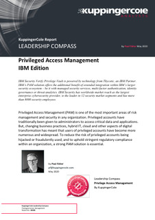 2020 KuppingerCole Leadership Compass for Privileged Access Management IBM Edition