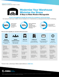 Modernize your warehouse and minimize stress