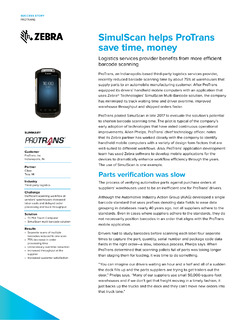SimulScan helps ProTrans save time and money