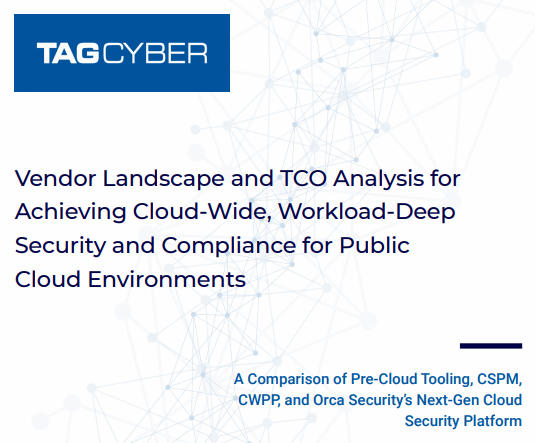 Vendor Landscape and TCO Analysis for Achieving Cloud-wide, Workload-Deep Security and Compliance for Public Cloud Environments