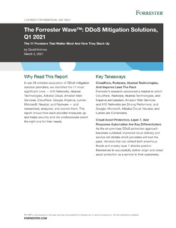 The Forrester Wave™: DDoS Mitigation Solutions, Q1 2021