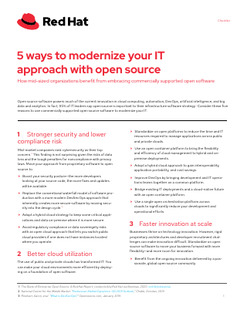 5 Ways to Modernize Your IT approach with Open Source