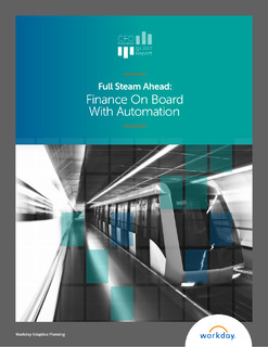 Full Steam Ahead: Finance On Board With Automation