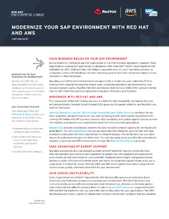 Modernize Your SAP Environment with Red Hat and AWS