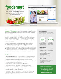 Telenutrition Powered by Foodsmart: We Make Healthy Eating Easy, Affordable, and Accessible for All