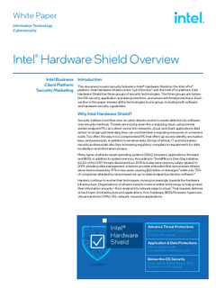 How Intel® Hardware Shield transforms security with 'out of the box' solutions